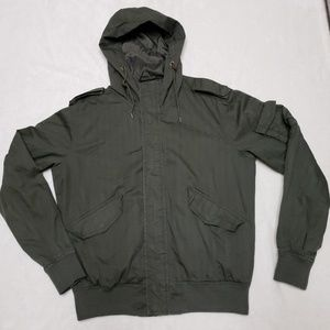 L.O.G.G. by H&M Army Green Hooded Coat